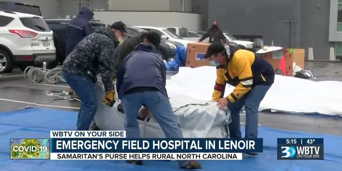 North Carolina field hospital helps fight coronavirus surge
