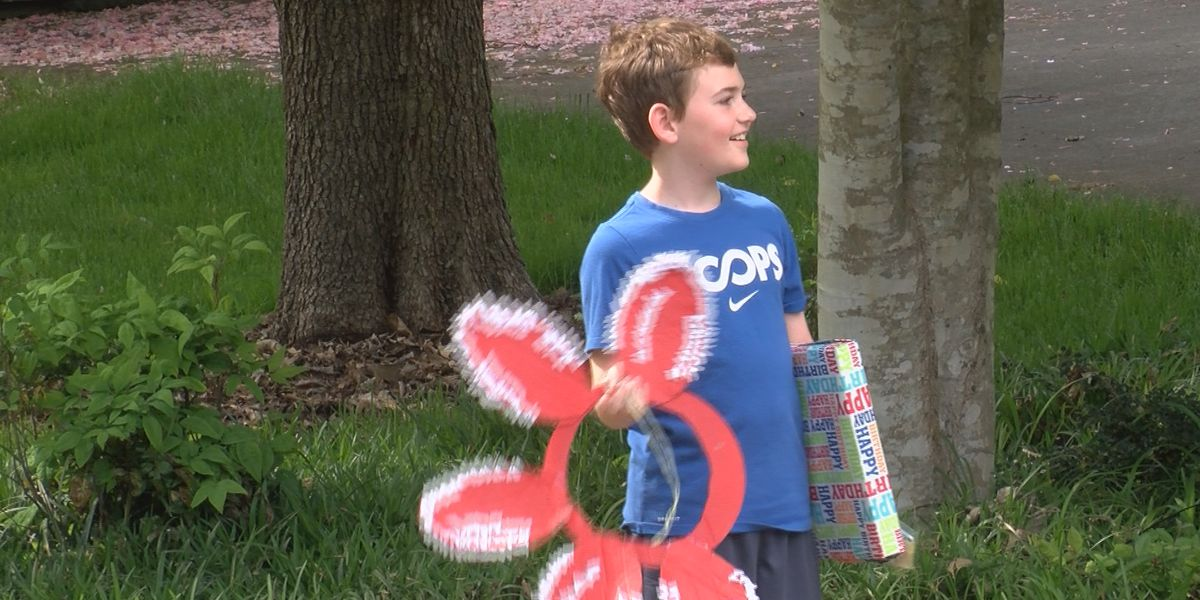 Neighbors hold parade for 9-year-old after birthday party canceled due to pandemic