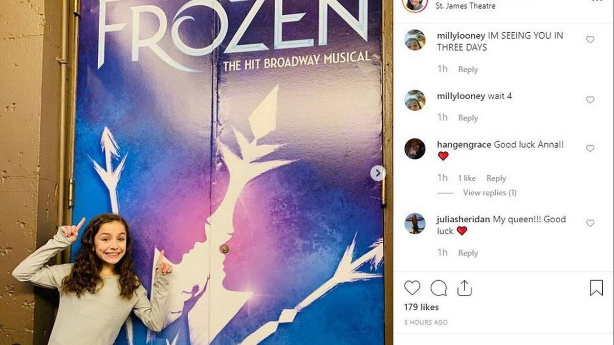 This Charlotte 7th grader is making her Broadway debut as Young Elsa in 'Frozen'