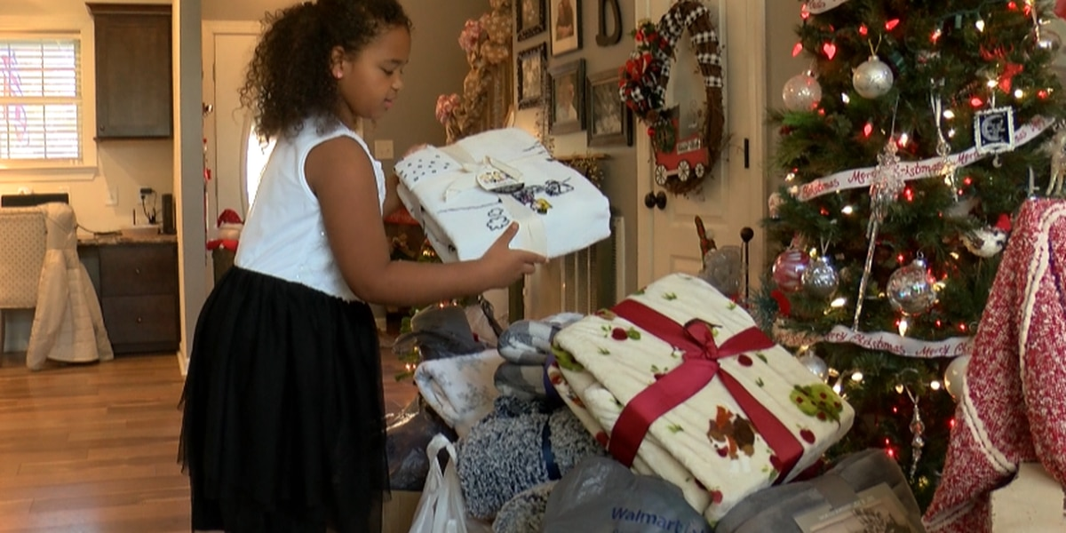 6-year-old collecting blankets to warm the hearts of seniors for the holidays