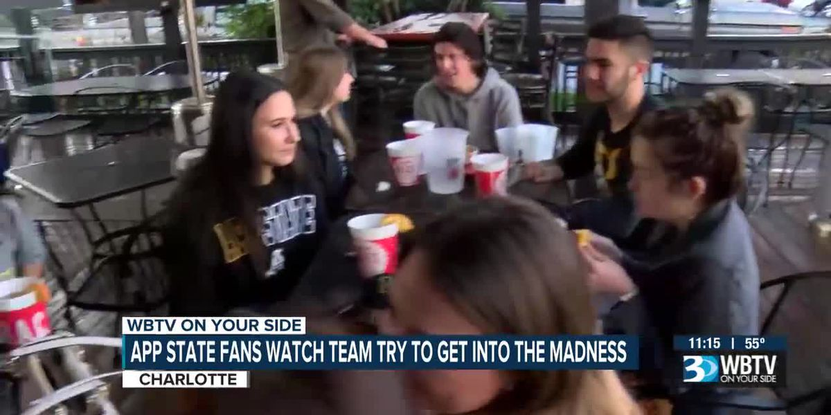 App State fans watch team try to get into the madness