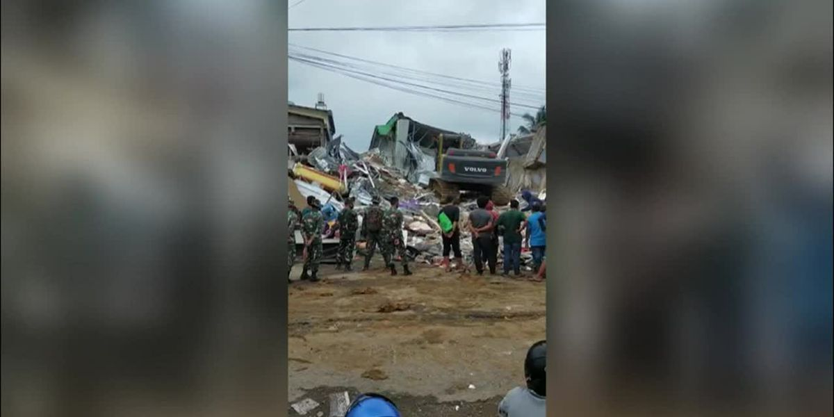 Indonesia: Officials survey destruction from earthquake