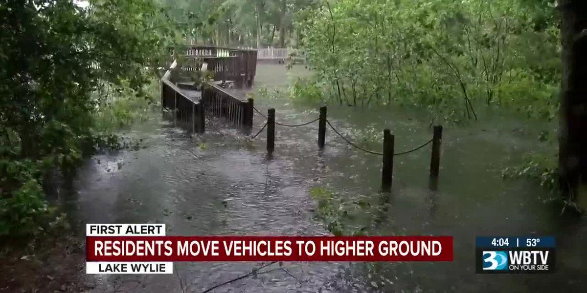 Lake Levels rising as rain keeps falling, some flooding possible
