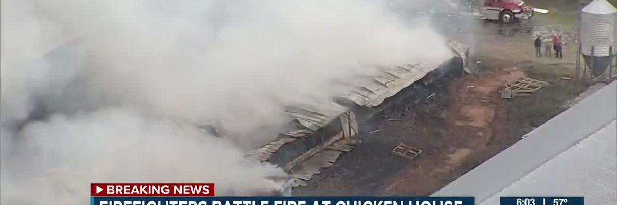 Fire breaks out at chicken house in Union County
