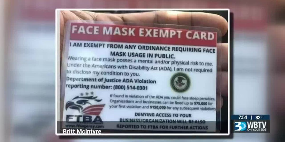 Fake or Fact: Is there a 'face mask exemption' card?