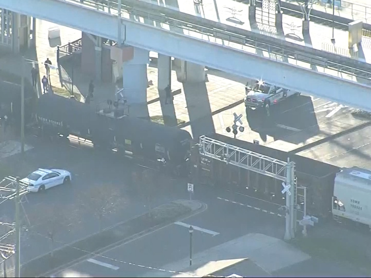 Man hit by train while walking on railroad tracks in south Charlotte