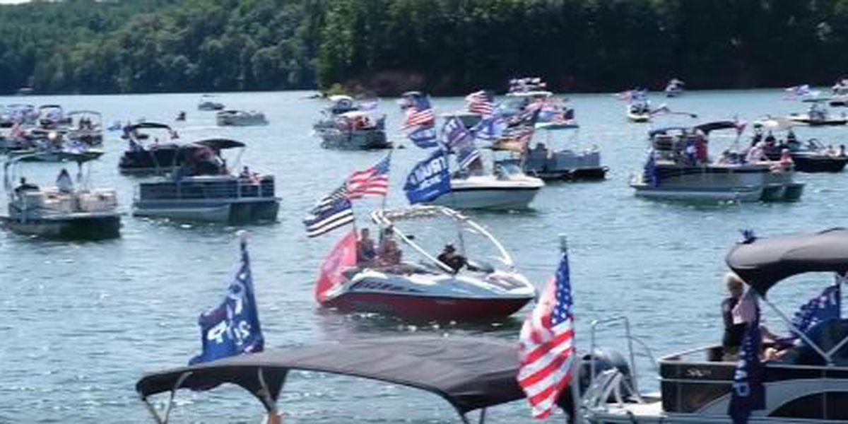 'Trump Boat Parade' hits water at Lake James