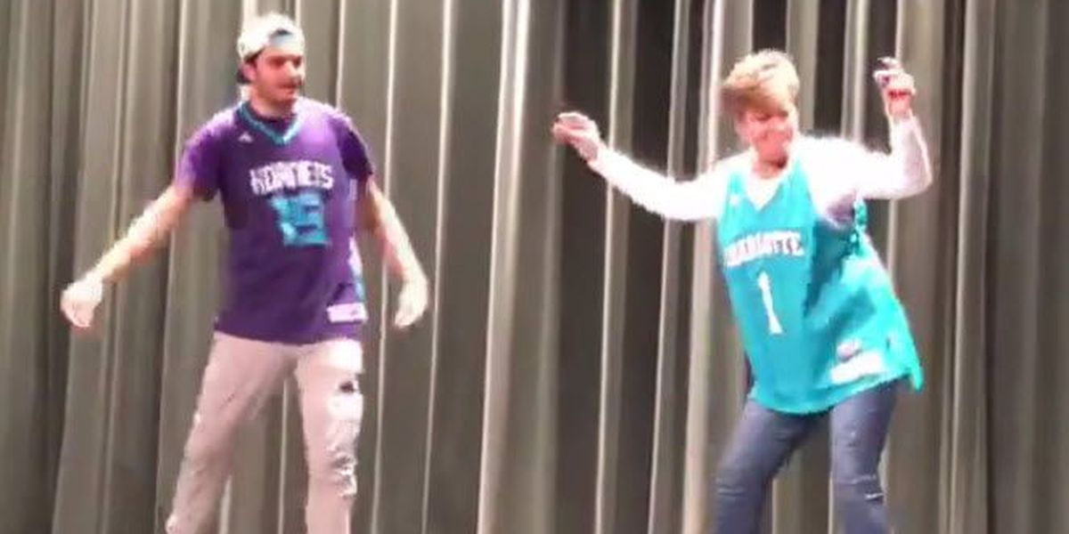 VIRAL VIDEO: Mother and son hip-hop dance at high school talent show