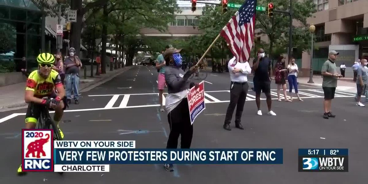 Very few protesters during start of RNC in Charlotte