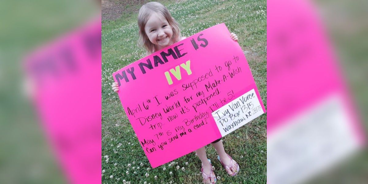 Union Co. sending cards to little girl whose Make-a-Wish trip, birthday were both cancelled