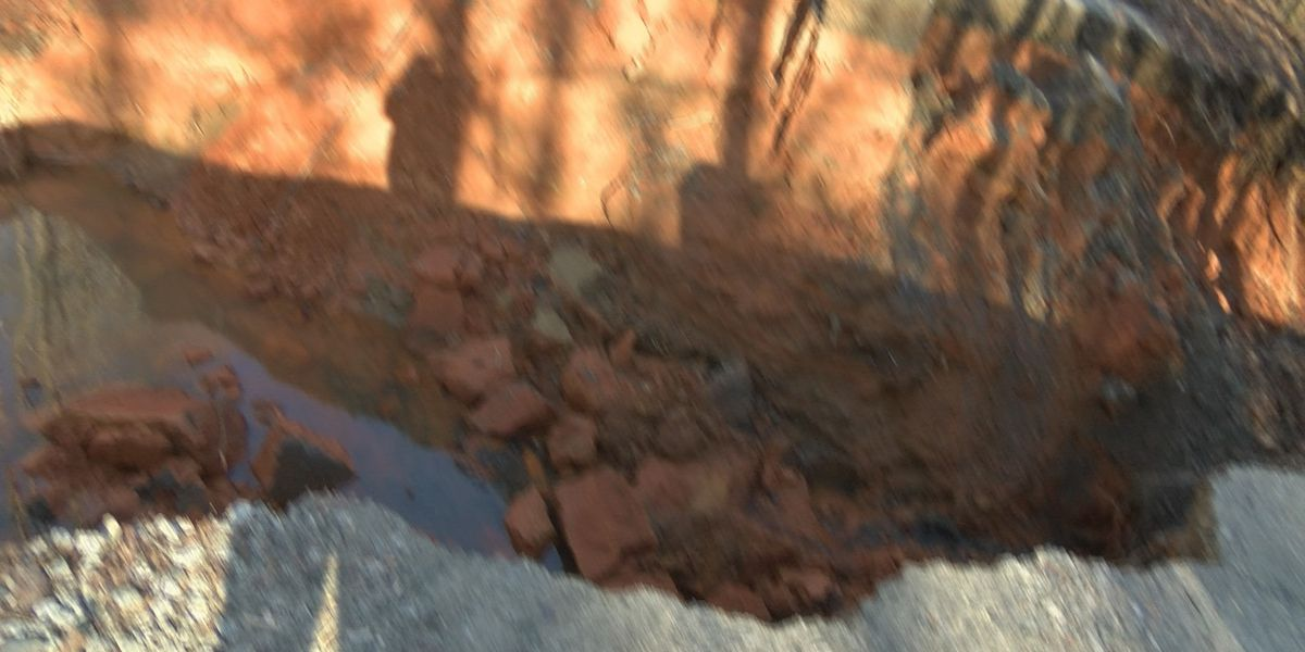Sinkhole causing problems for families in Lincoln County