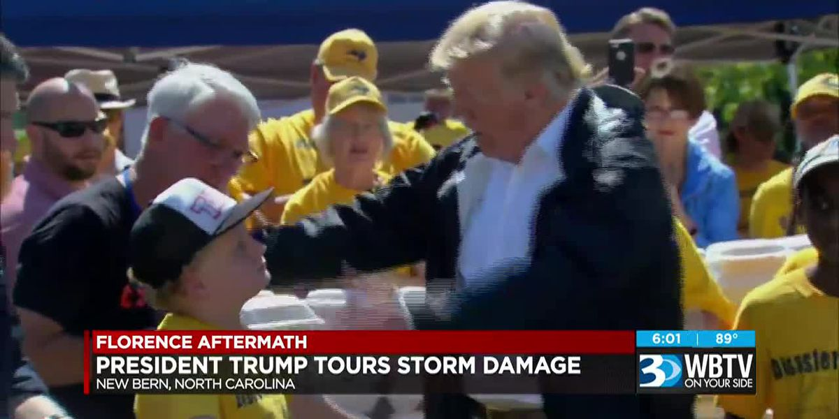 President Trump tours Florence damage in NC