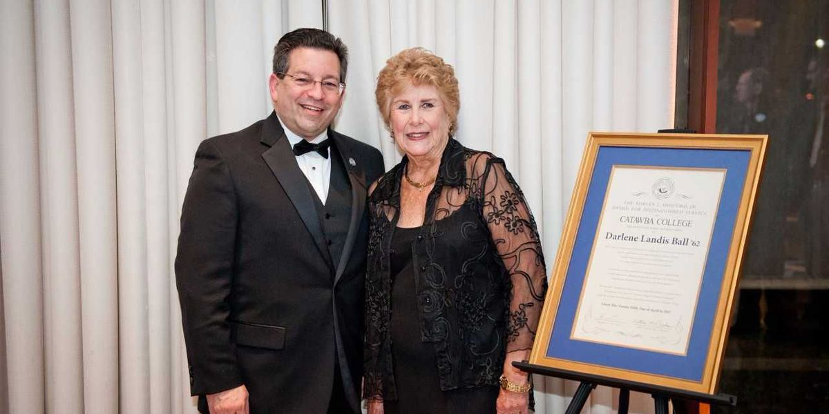 1962 alumna honored with Catawba College Adrian L. Shuford, Jr. award