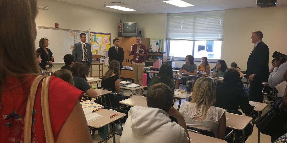 State Superintendent visits Union County Public Schools, talks school safety, school resource officers