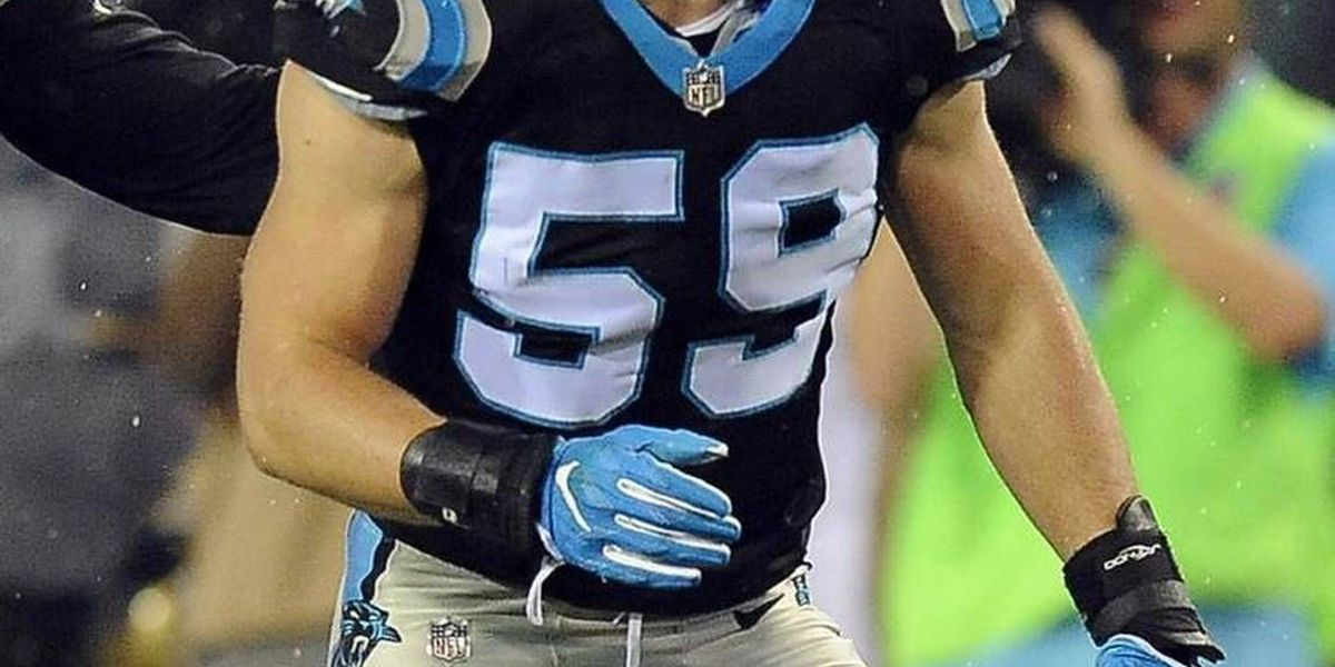 Hard-to-see experimental device Luke Kuechly wears on field might save his brain
