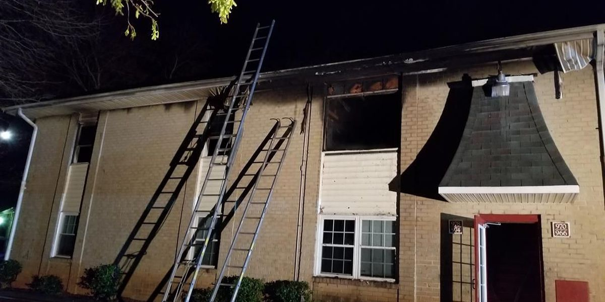 Multiple families displaced after fire damages Kannapolis apartment building