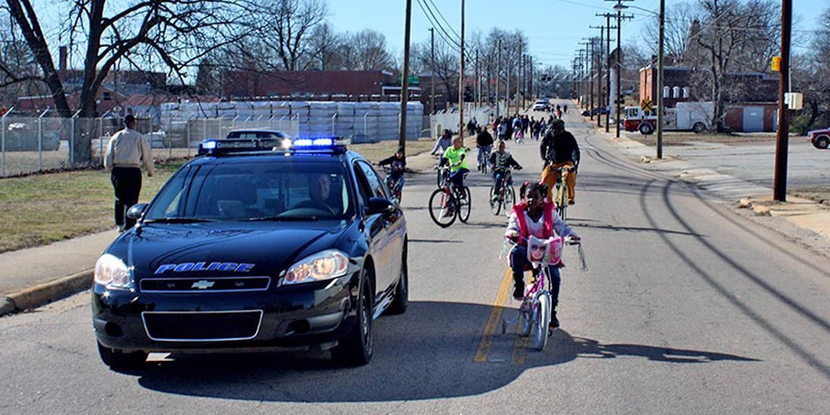 """East Spencer residents celebrate MLK day with """"Biking For A Change"""""""