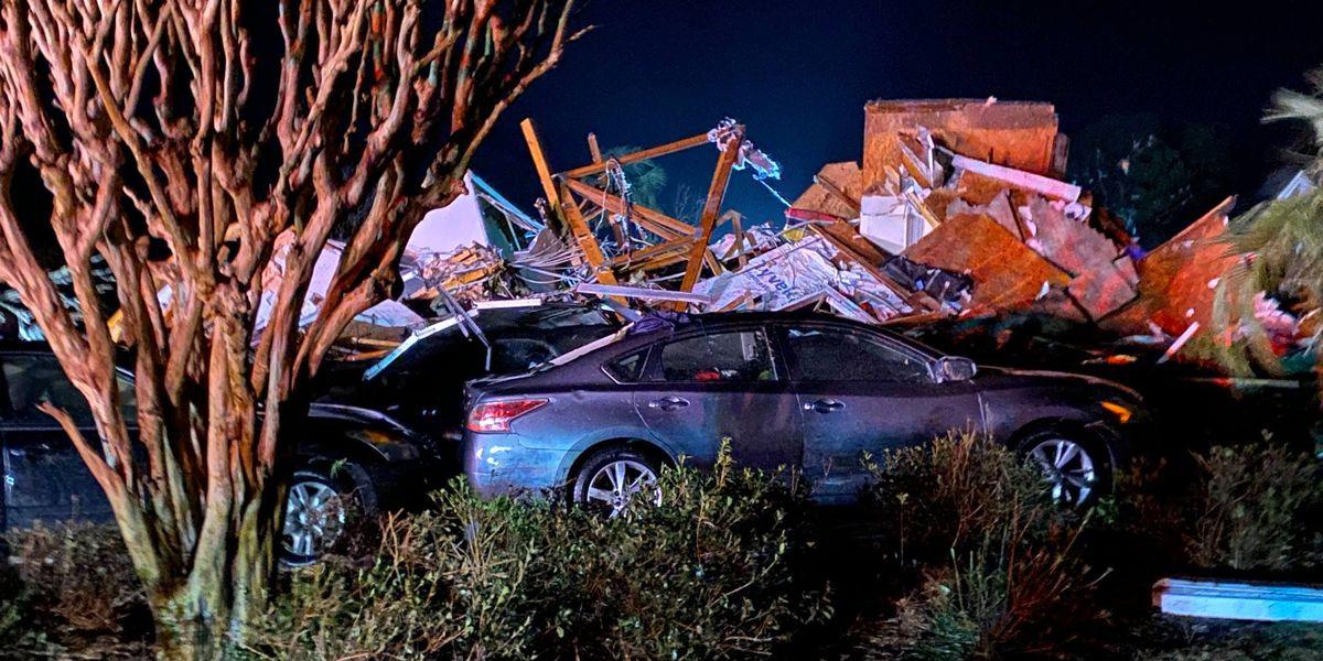 Governor Cooper surveys tornado damage in Brunswick County, N.C.