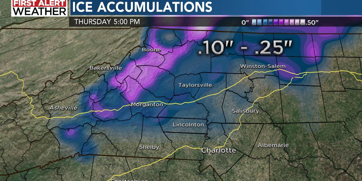 Rain, freezing rain and icy wet roads to impact the WBTV viewing area