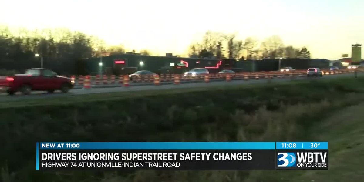 "Drivers ignoring ""superstreet"" safety changes"