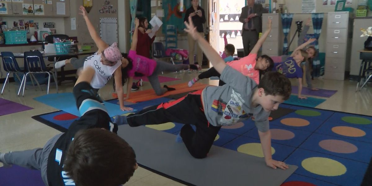 Union County teacher starts yoga club to ease the minds of elementary students