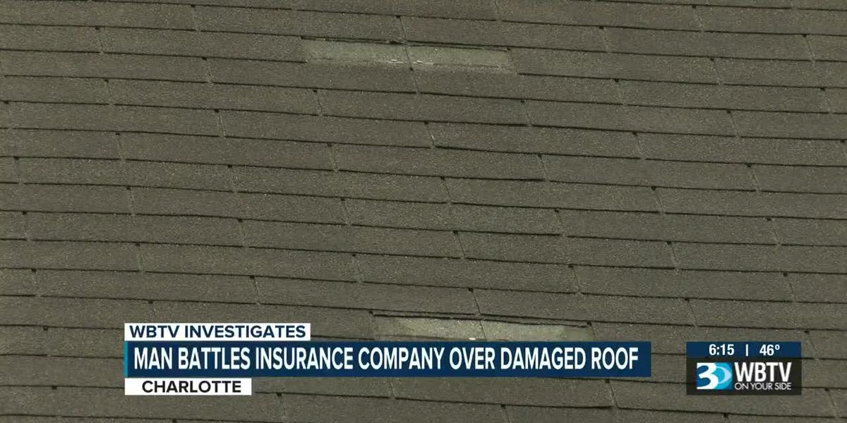 Man battles insurance company over damaged roof