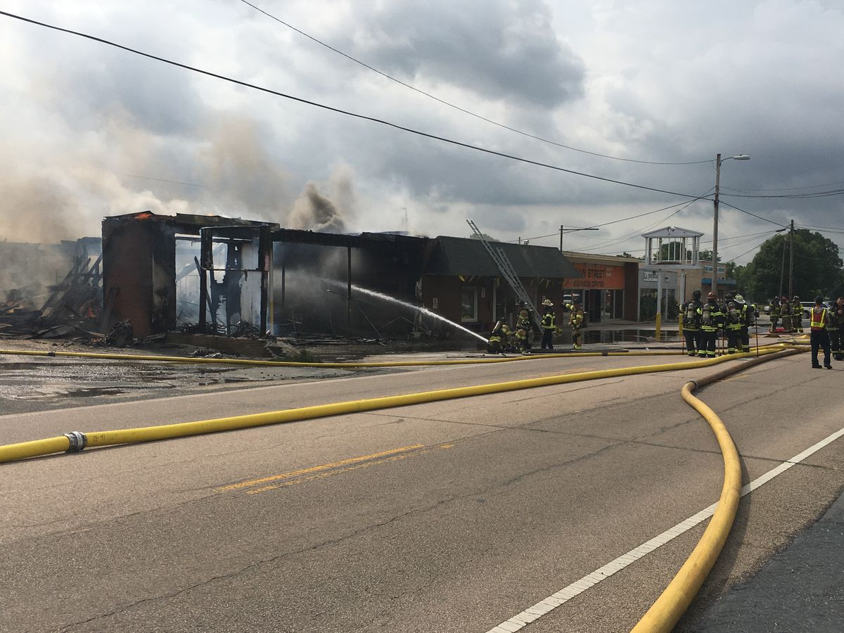 Firefighter injured as flames gut building in Kannapolis
