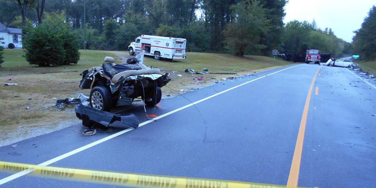 Troopers: Two killed when vehicle strikes tractor-trailer head-on, splits in two pieces