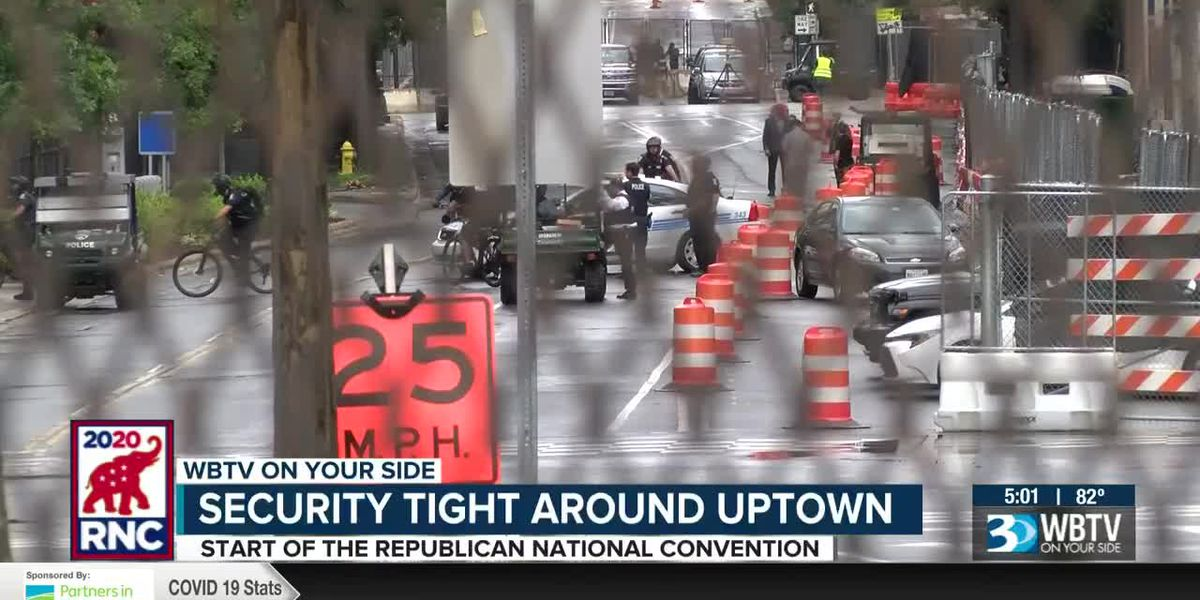 Security tight around uptown Charlotte for RNC