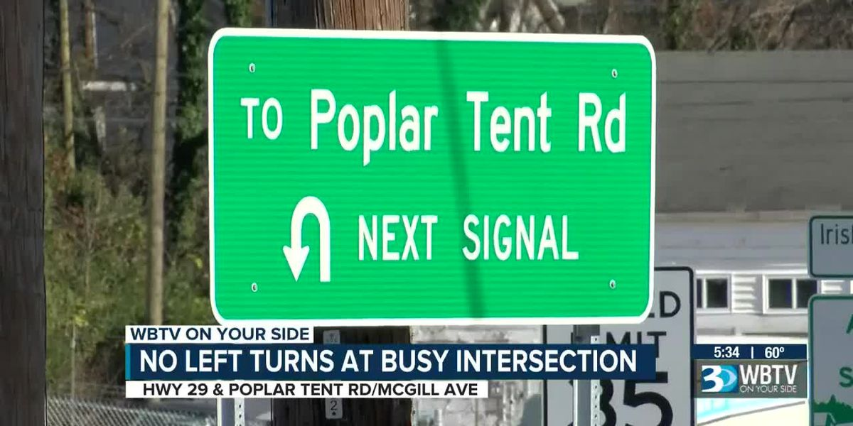No Left Turns at Busy Intersection