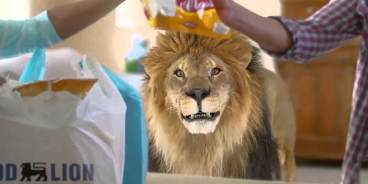 That lion on the Food Lion commercials may be calling your friends