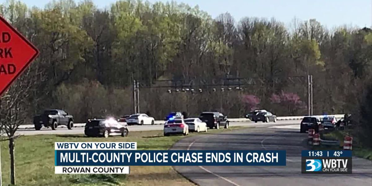 Man arrested for kidnapping, shooting at officers during multi-county chase into Rowan County