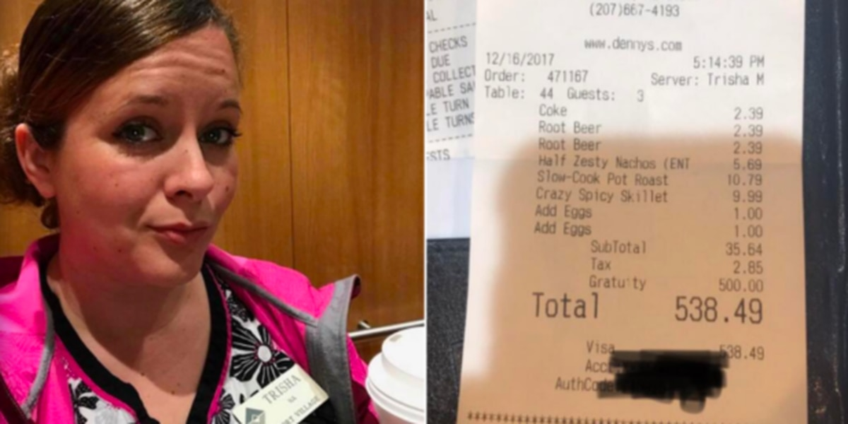 "Single mother of four says stranger ""saved Christmas"" with generous $500 tip"