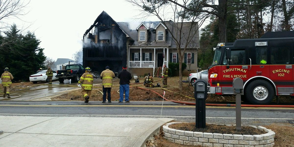 Heavy fire damages home in Iredell County