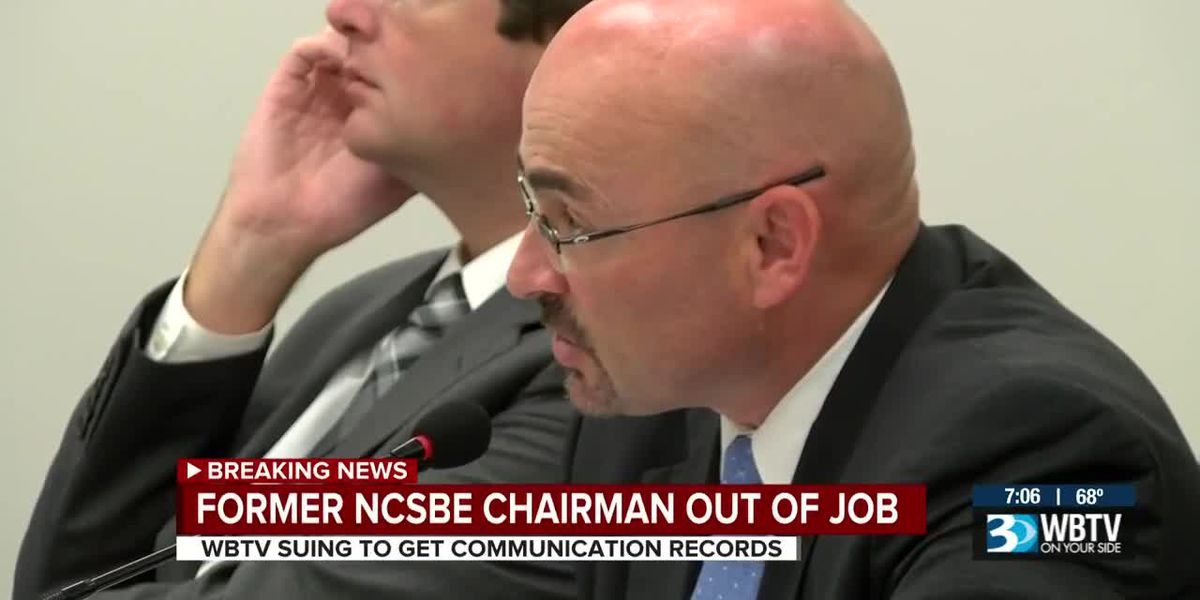 Former NCSBE Chairman out of a job