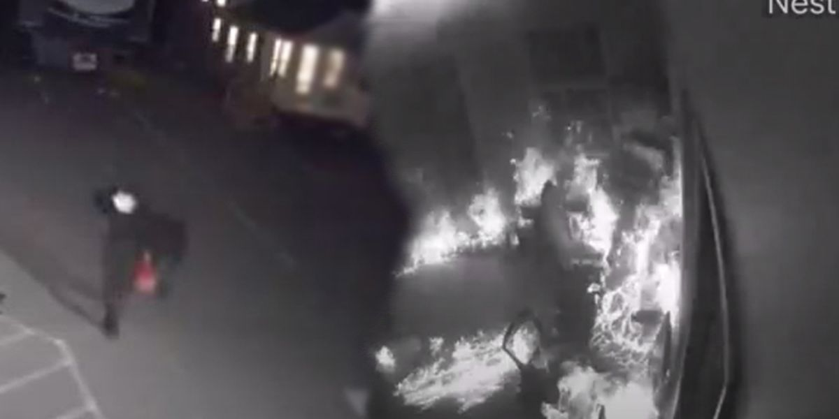 CAUGHT ON VIDEO: Man catches self on fire during arson at North Carolina RV business