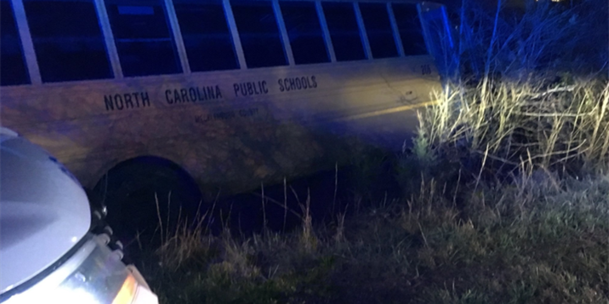 School bus driver crashes after swerving to avoid hitting a deer, officials say