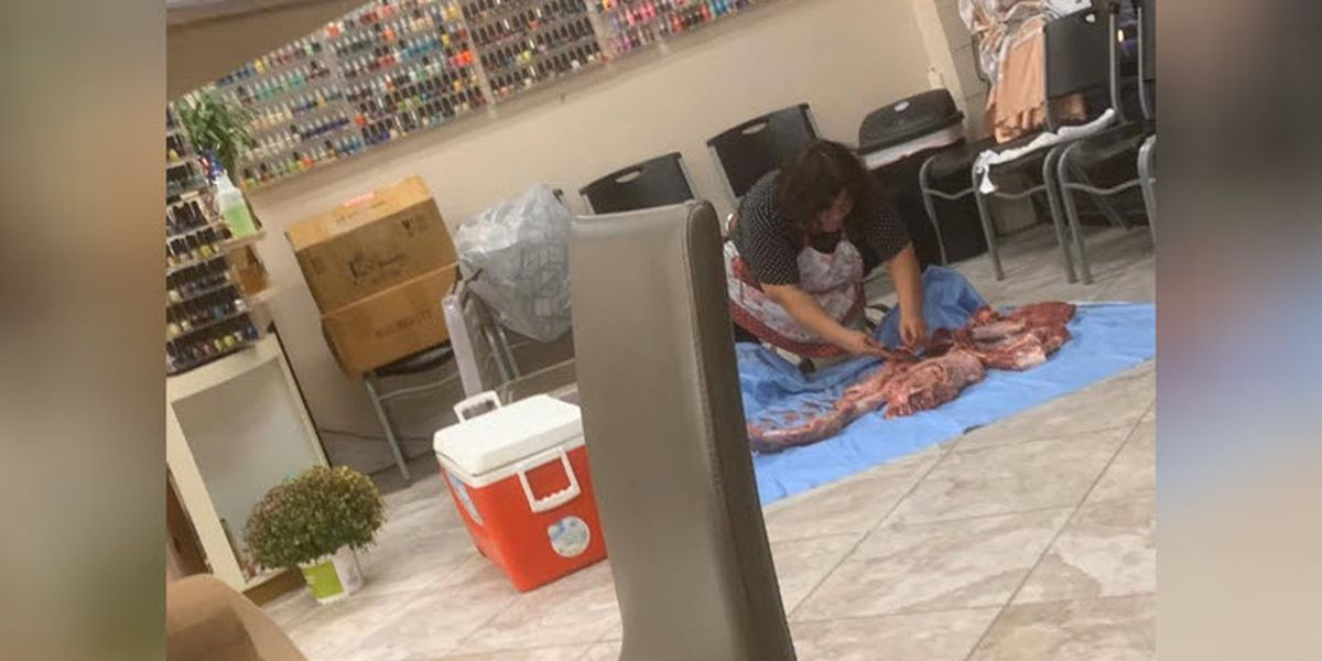 Student captures photo of deer being butchered in N.C. nail salon