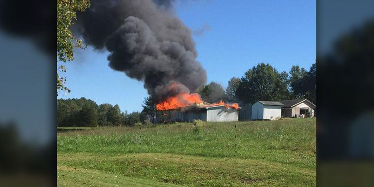 Cabinet shop catches fire in Crouse