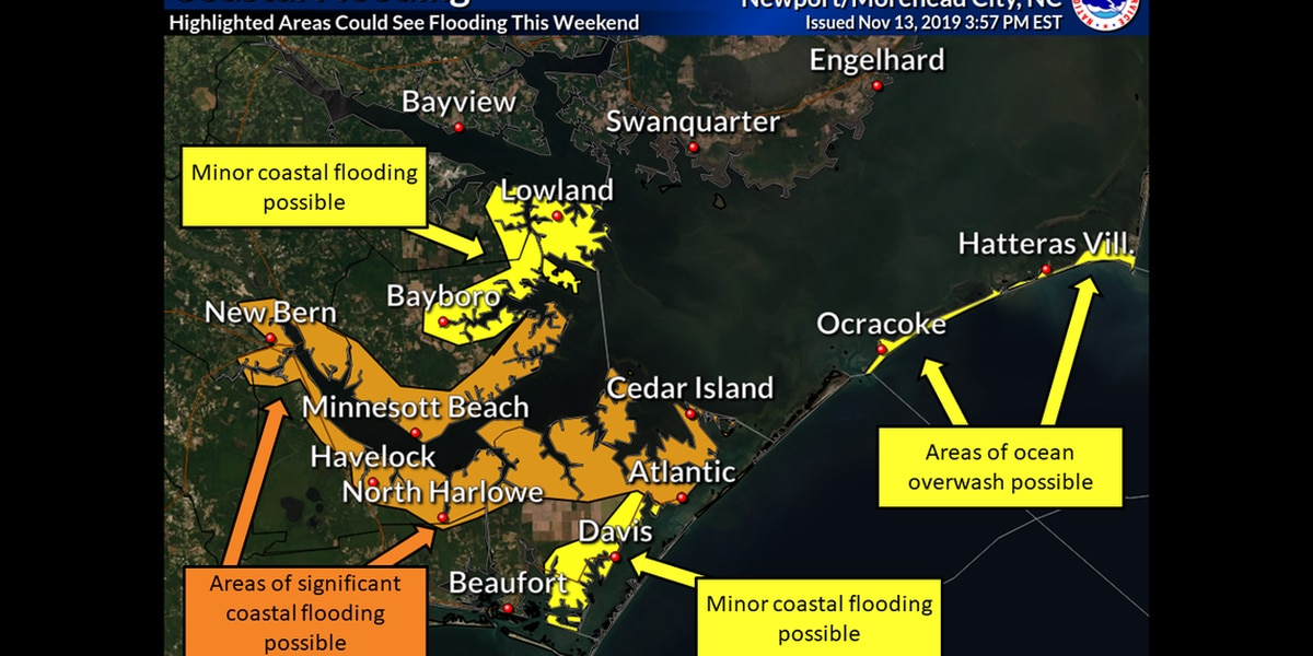 Parts of Outer Banks to see 25-foot waves, 61-mph gusts and 'life-threatening' floods