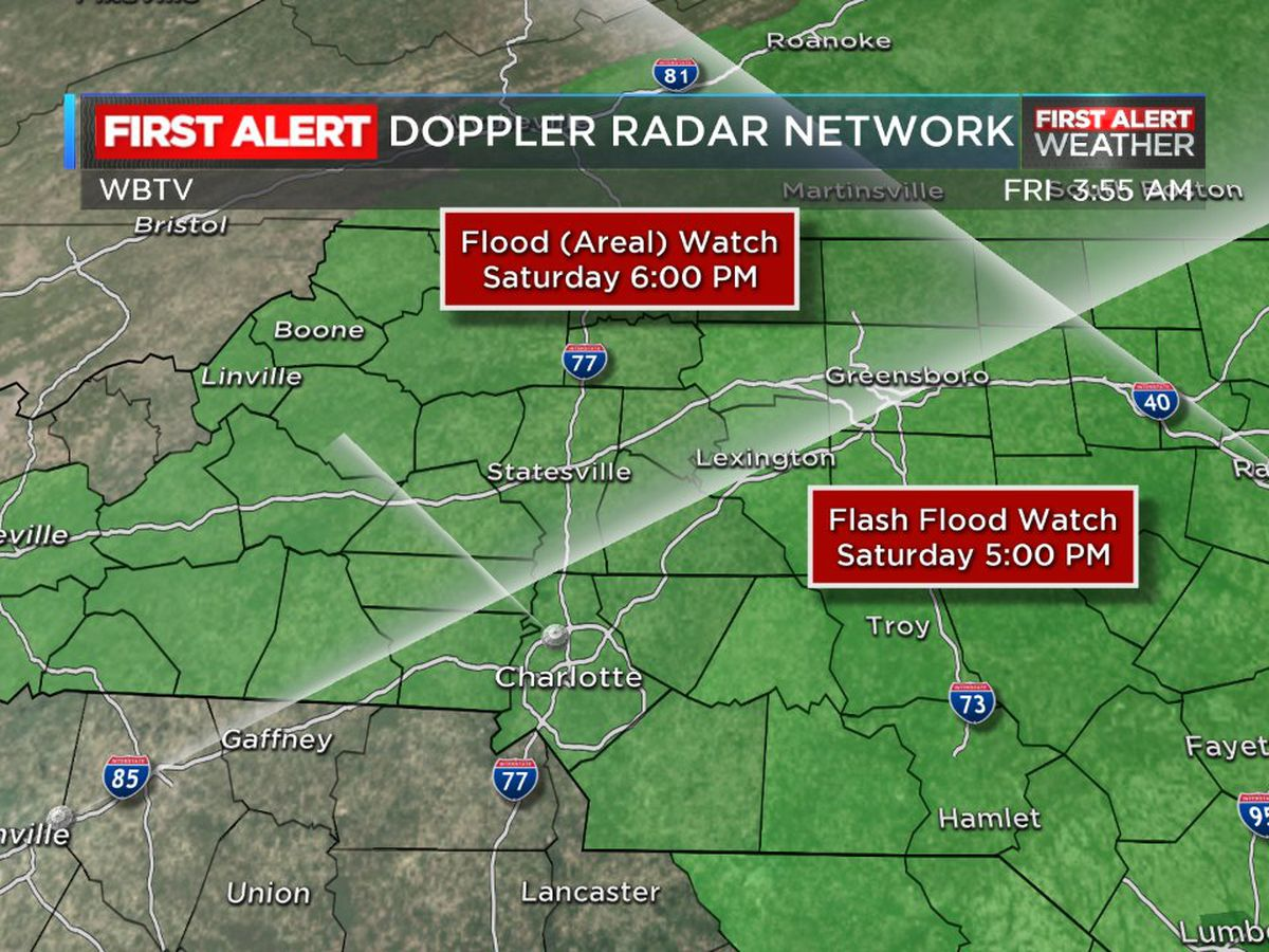 First Alert Day: Heavy rain expected throughout the day