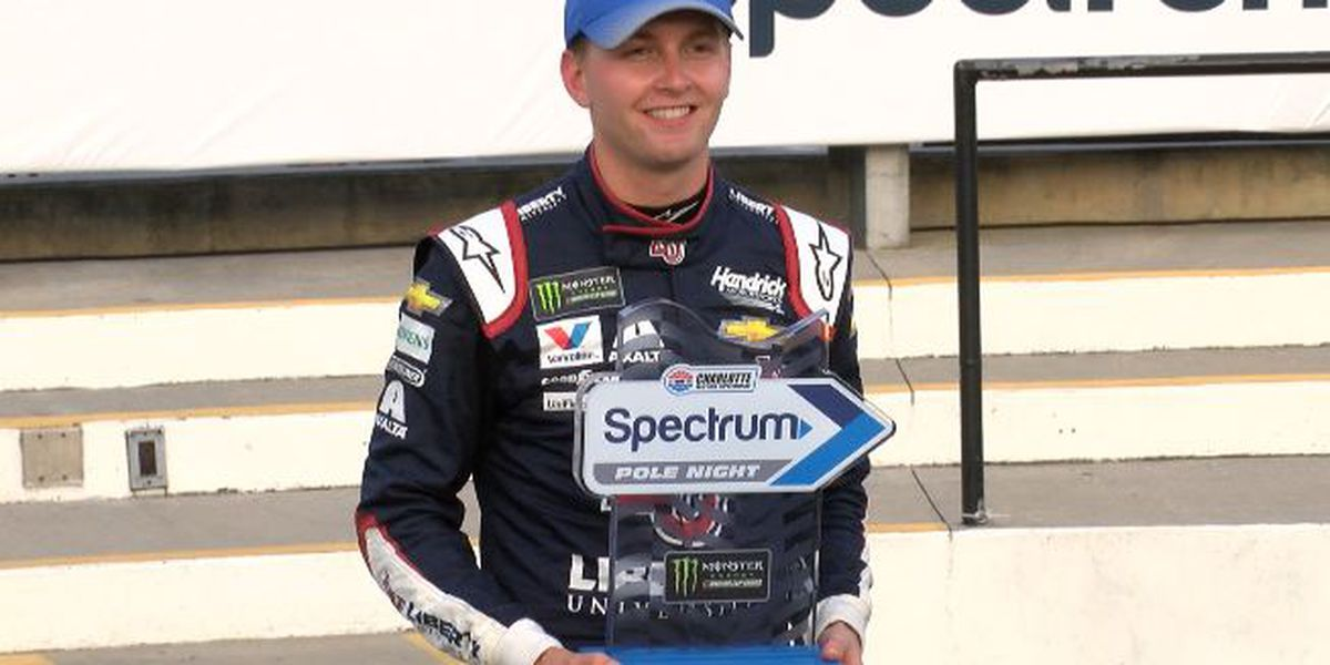 William Byron roars to Coca-Cola 600 pole on Spectrum Pole Night