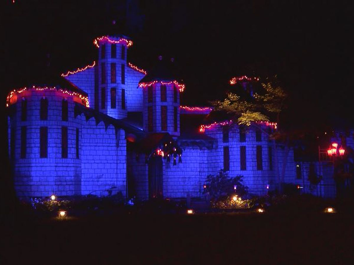 This Charlotte carpenter builds a whole new front to his house each year for Halloween