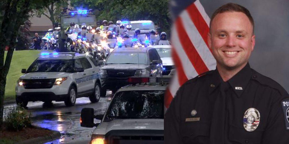 Hundreds attend service for fallen Mooresville Police Officer Jordan Sheldon