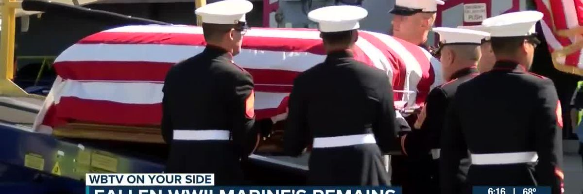 Remains of World War II hero escorted home 76 years after death