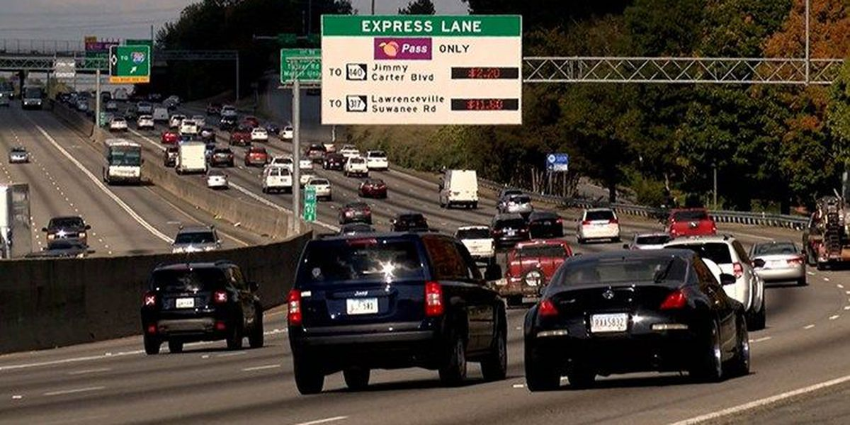 Atlanta-area drivers paying up to $13.95 per trip in toll lane