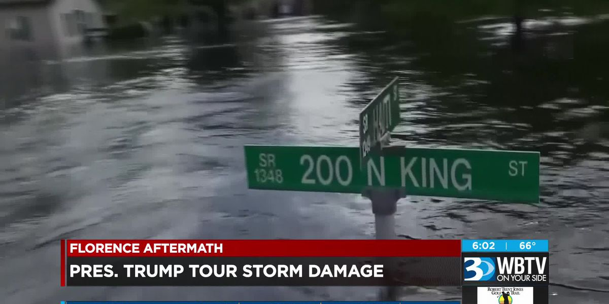 Florence aftermath latest death toll plus Trump touring NC
