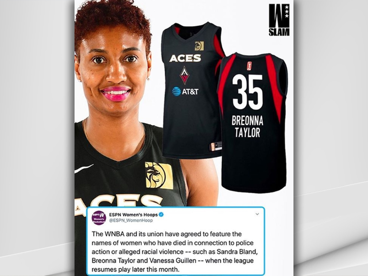 "WNBA players will wear special uniforms to ""seek justice"" for women killed by police and racial violence"