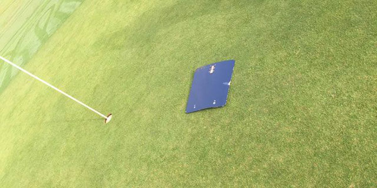 Plane part falls from sky, lands on Mt. Holly golf course