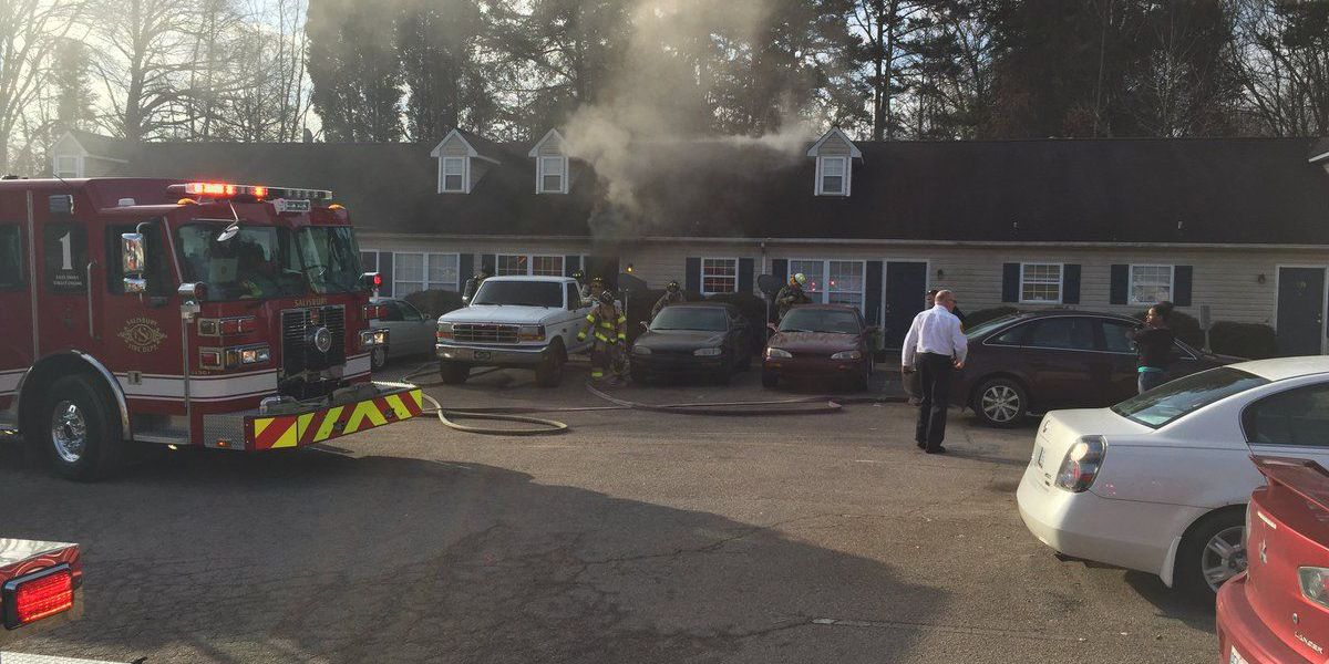 Firefighters battle fire at Salisbury apartment